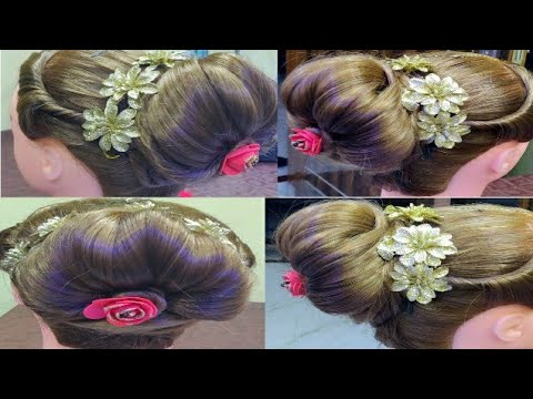 Simple And Easy Party Hairstyle Wedding Hairstyles Bun