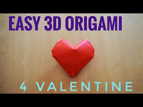💓 Easy Valentine Origami 3d Heart