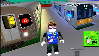 Johny Shows Roblox Transit City 2 With MTA Trains & MTA Bus