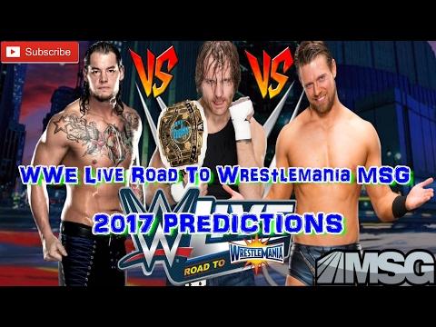WWE Live MSG Intercontinental Championship Dean Ambrose vs. Baron Corbin vs. The Miz