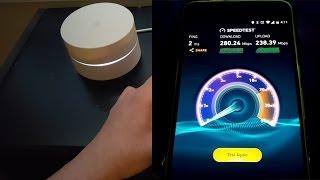 Google WiFi Speed Test with Google Fiber!