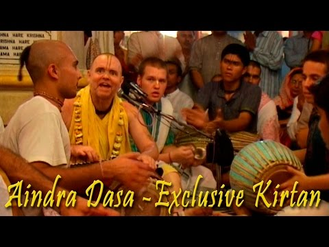 Aindra Dasa - Exclusive Kirtan Video. March 2009. part1