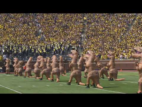 T-Rex Perform During Michigan Football Halftime