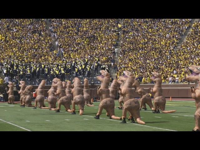 T-Rex Perform During Michigan Football Halftime