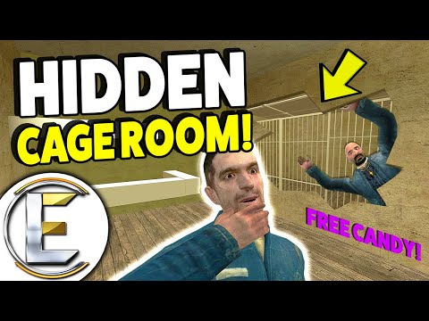 Hidden Cage Room! - Gmod DarkRP Life (A Base With A Secret Prison Behind A Fake Wall)