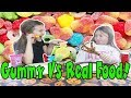 Gummy Vs. Real Challenge!
