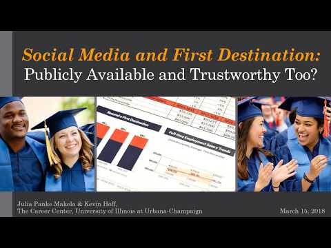 Social Media and First Destination  Publicly Available and Trustworthy Too