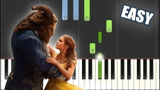 Beauty and the Beast - Ariana Grande \\u0026 John Legend   EASY PIANO TUTORIAL + SHEET MUSIC by Betacustic