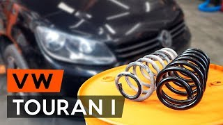 Montaż Zawieszenie tył lewy prawy VW TOURAN (1T3): darmowe wideo