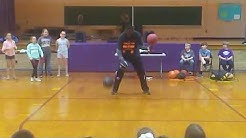 Unoffical Guinness World Record for Dribbling Two Basketbals While Spinning One