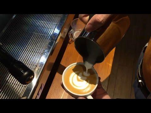 Good Latte Art Tulip using Motta Europa Pitcher HD.1080p