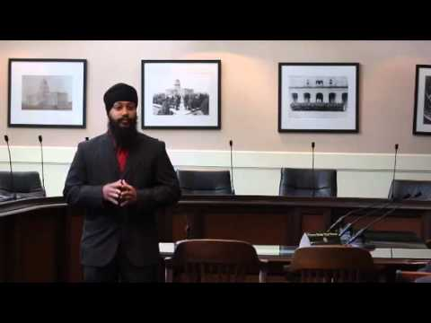 Amandeep Singh, Yuba County deputy sheriff, speaks at Muslim a
