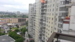 Пожар в москве, улица Привольная. 22.06.2013