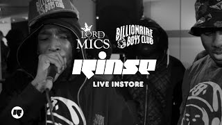 Lord of the Mics x Billionaire Boys Club x Rinse — Live Instore