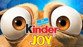 Ice Age & Crazy Friends Kinder Joy Opening Surprise Toys - Eggs and Toys TV