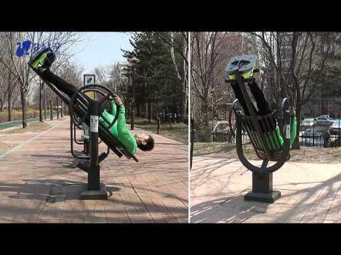 양재천 공원 운동기구 사용법 - 턴오버스트레칭