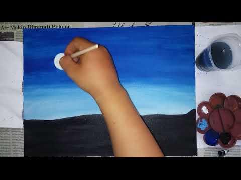 #lukis #lukisan #acrylic #painting       Acrylic Painting    Melukis Langit Malam Dengan Cat Acrylic