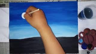 #lukis #lukisan #acrylic #painting       Acrylic painting || melukis langit malam dengan cat acrylic