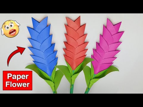 ►► How To Make Paper Heliconia Flower Easy Step By Step | Paper Craft Work Episode 24