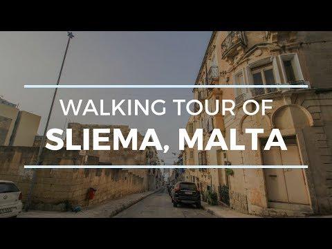 [4K] EARLY MORNING IN SLIEMA, MALTA WALKING TOUR