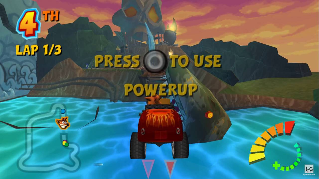 Crash Tag Team Racing PSP Gameplay HD