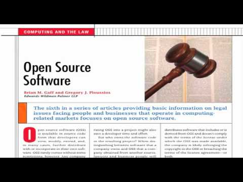 Computing and the Law: Open Source Software