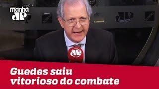 Guedes saiu vitorioso do combate que travou sozinho | #AugustoNunes
