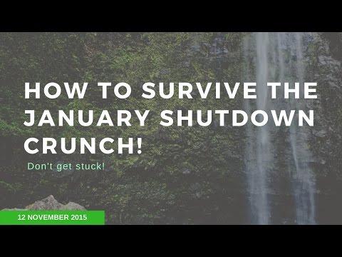 How to Survive the January Shutdown - Webinar