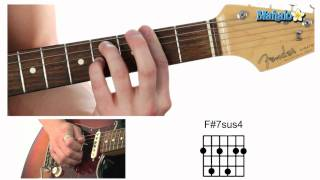 How to Play an F Sharp Seven Suspended Four (F#7sus4) Chord on Guitar