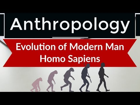 Anthropology - Evolution of Modern Man Homo Sapiens from anc