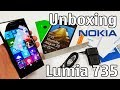 Nokia Lumia 735 Unboxing 4K with all original accessories RM-1038 review