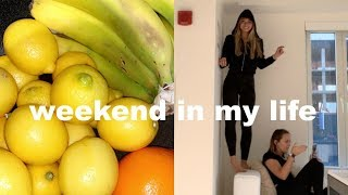 vlog: visiting my friends at college, grocery haul & new workout clothes!