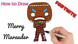How to Draw Merry Marauder | Fortnite Drawings Art Tutorial