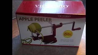 Johnny Apple Peeler by VICTORIO VKP1010, Suction Base Product Review YouTube Videos