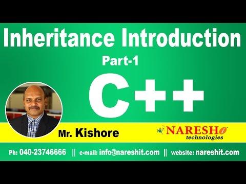 Introduction to Inheritance in C++ Part 1   C++ Tutorial   Mr. Kishore