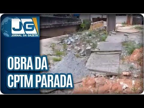 Obra da CPTM parada causa transtorno na Linha 9-Esmeralda