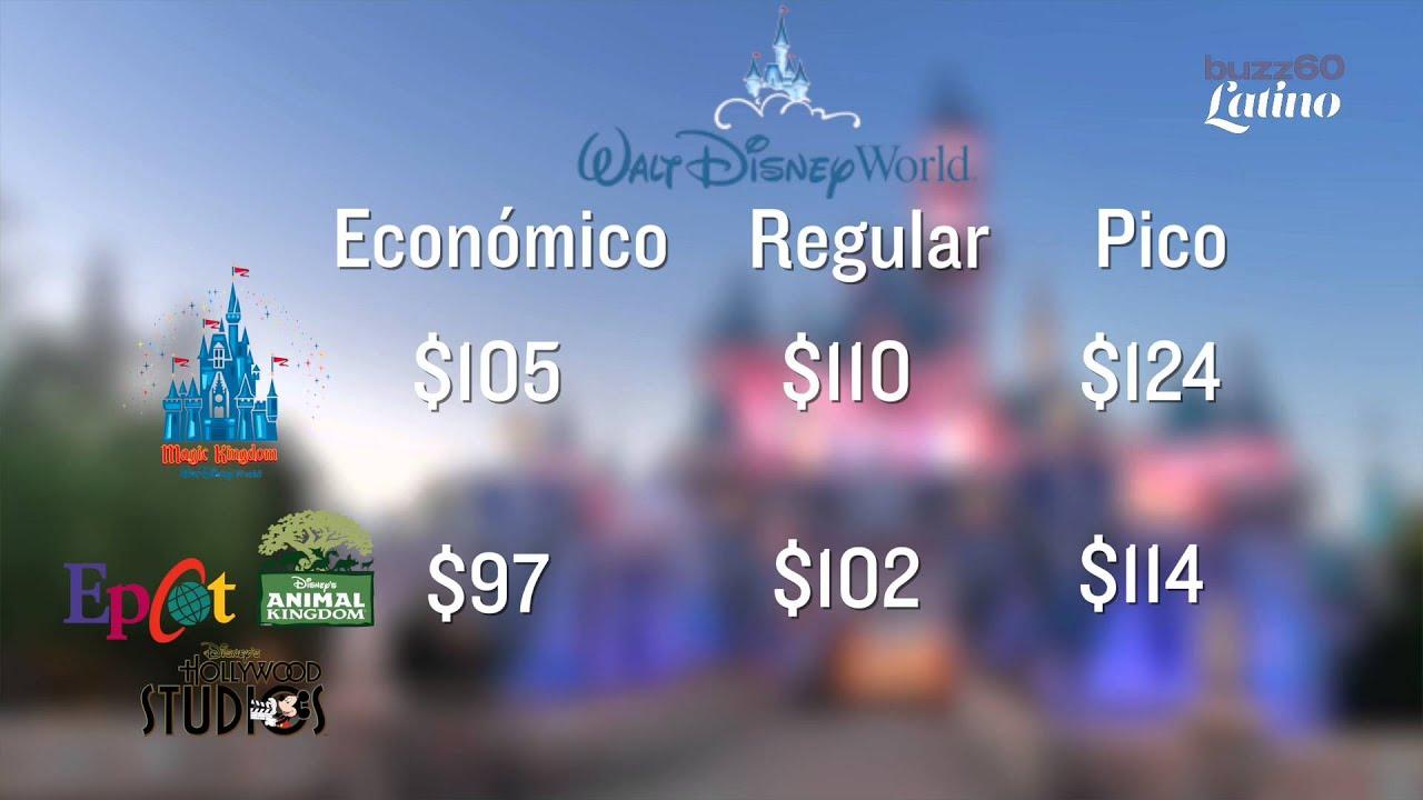 Disney cambia precio de entrada a sus parques temáticos ...