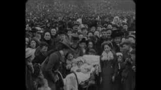 Easter 1901 - Festivities in park, Preston, Lancashire (speed corrected w sound)