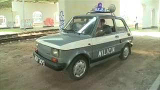 Polski Fiat 126p FL radiowóz  Milicji Obywatelskiej .
