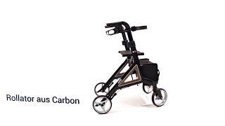 Produktvideo zu Leichtgewicht-Rollator aus Carbon Bischoff & Bischoff Alevo Aubergine