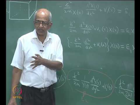 Mod-02 Lec-11 Particle in a 3 dimensional box