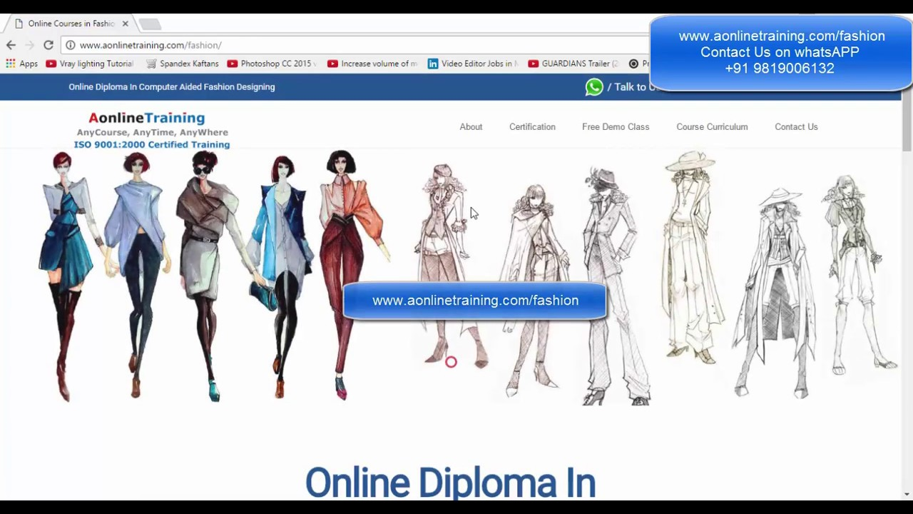 Online fashion designing courses cad free demo class youtube online fashion designing courses cad free demo class xflitez Gallery