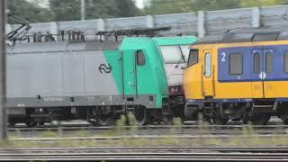A few trains, Barendrecht, NL, 18 OKT 2020, on a sunday afternoon.
