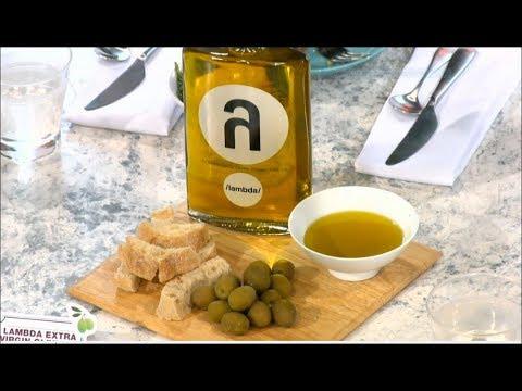 λ /lambda/ olive oil on Sunday Brunch, Channel 4, U.K., June 25th 2017.