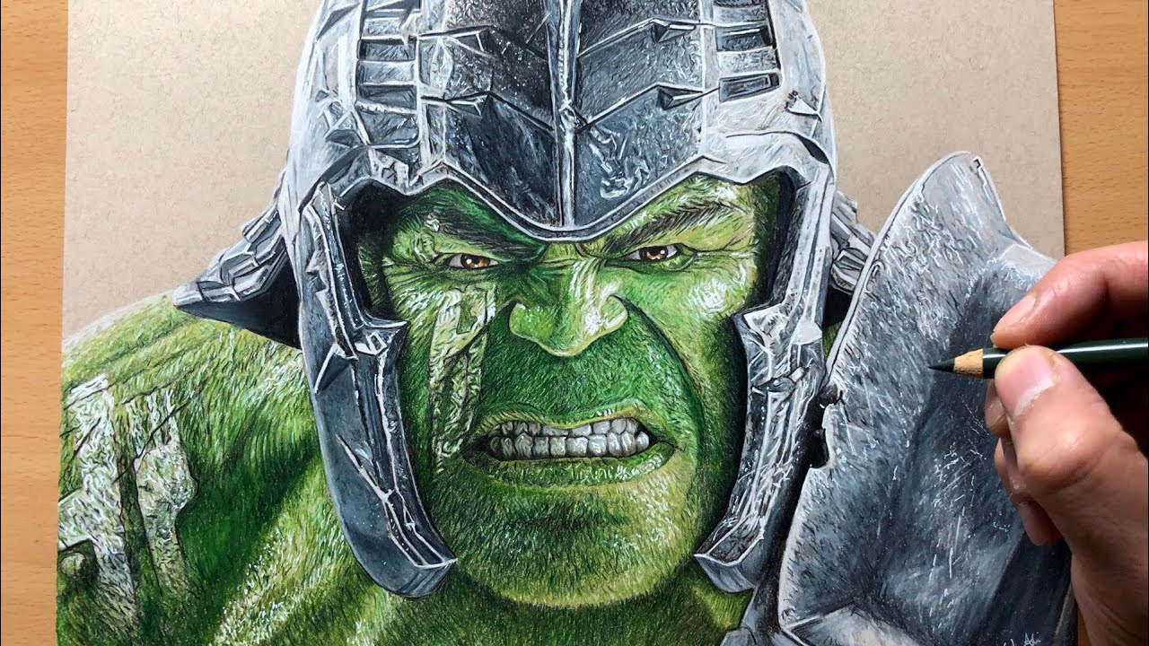 Drawing Gladiator Hulk (Thor Ragnorak) - Marvel - Timelapse | Artology - YouTube