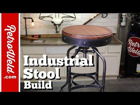 🔴  Industrial Bar Stool / Shop Stool Build