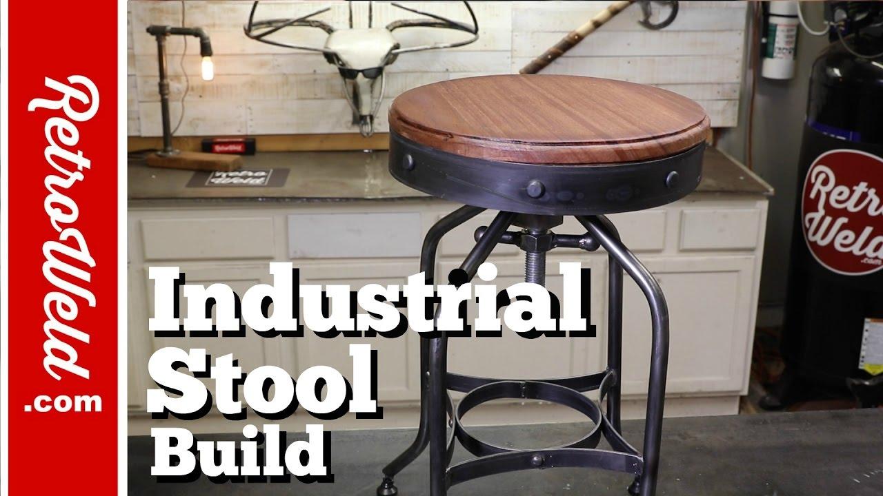 industrial bar stool shop stool build