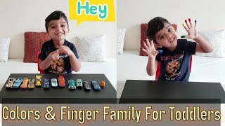 Animal Finger Family Song / Learn Colours with Super Sports Cars /Learn Colors with Body Paint