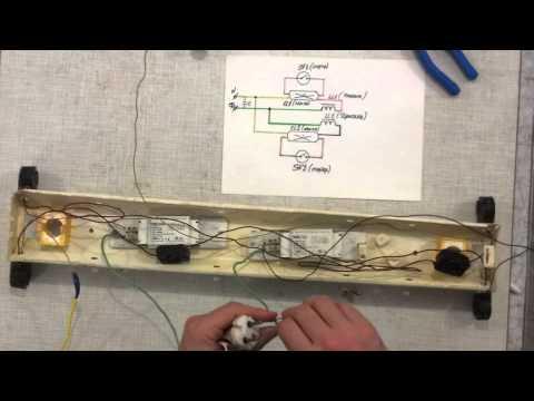 Как подключить люминесцентный светильник
