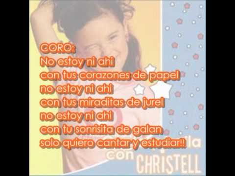 No estoy ni ahí- Christell LETRA